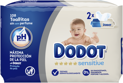 dodot-sensitive-wet-baby-wipes-duopack-108-einheiten
