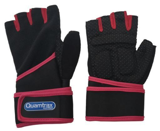 Quamtrax Nutrition Pink Training Gloves Size M