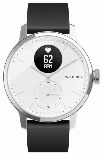 Withings Hybrid Stahl Scanwatch 42 Mm Schwarz