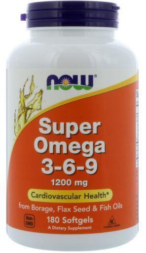 Now Foods Super Omega 3 6 9 1200 Mg 90 Softgel