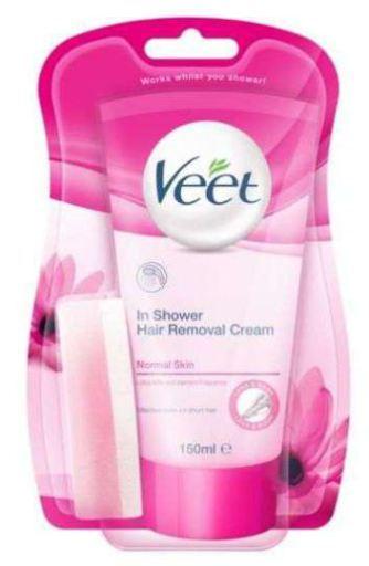 Veet Depilatory Cream For Normal Skin 150ml Shower