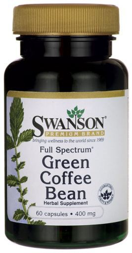 Swanson Full Spectrum Green Coffee Bean 400 Mg 60 Capsules