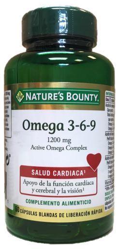 Nature S Bounty Omega 3 6 9 Active Omega Complex 60 Capsulas Blandas