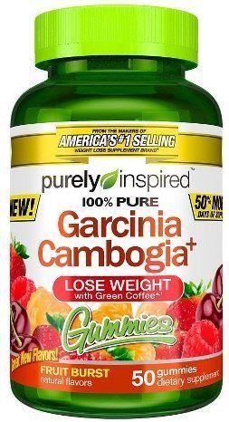 Purely Inspired 100 Pure Garcinia Cambogia Fruit Burst 50 Gummies